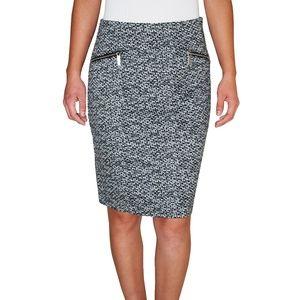 Michael Kors  Printed Pencil Skirt (Black, 8)